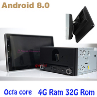 Octa core PX5 Android 8.0 10.1 inch adjustable screen 2 din universal car dvd gps auto player 4Gb+32Gb wifi 4g usb Multimedia
