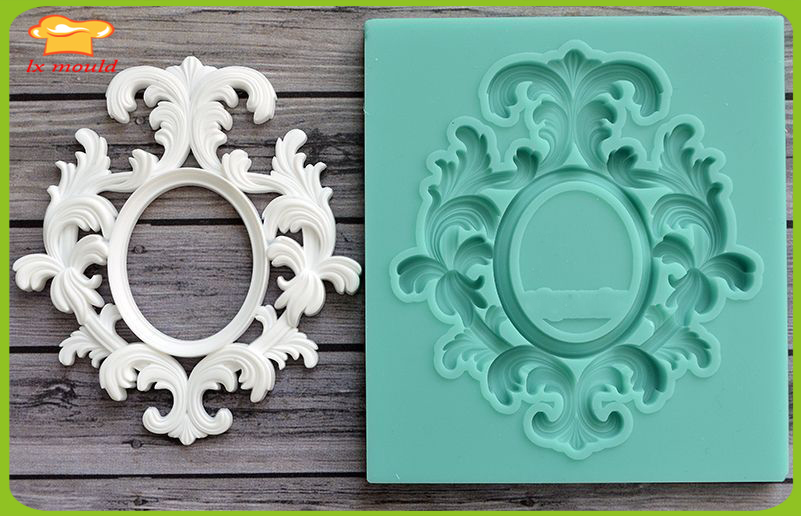 lxyy moulds high end custom fondant silicone cake mold mold dry pace art vintage frame