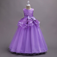 Baby Girl Wedding Dress High Quality Lace Long Gown Bow Elegant Princess Party Dresses 5 16