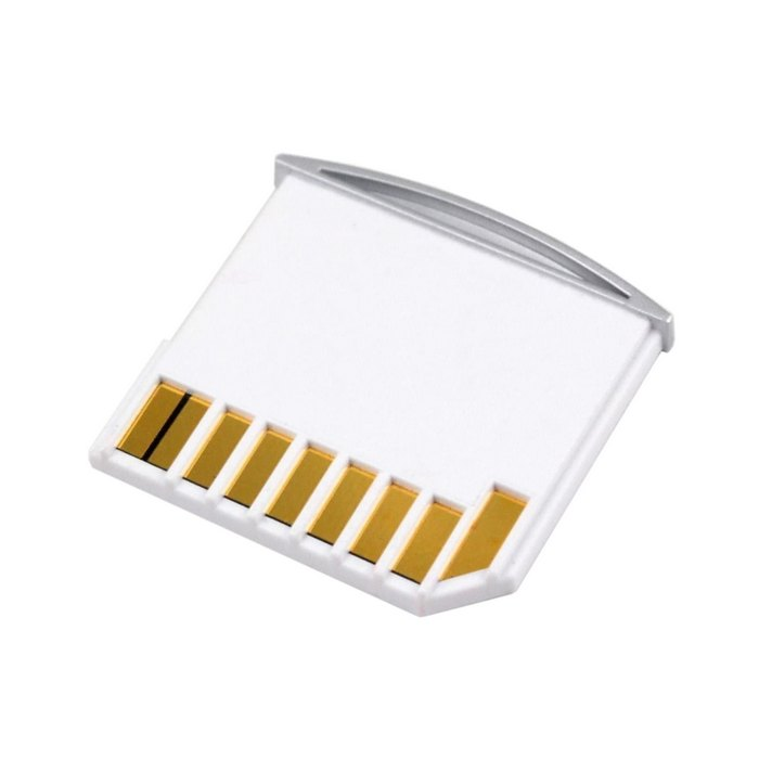 Micro SD TF To SD Card Kit Mini Adapter For Extra Storage Macbook Air / Pro / Retina White Color