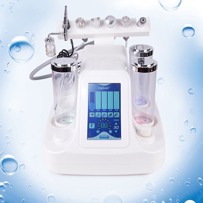 6 In 1 Hydra Dermabrasion Aqua Peel Clean Skin Care BIO Light RF Vacuum Face Cleaning Hydro Water Oxygen Jet Peel Beauty Machine