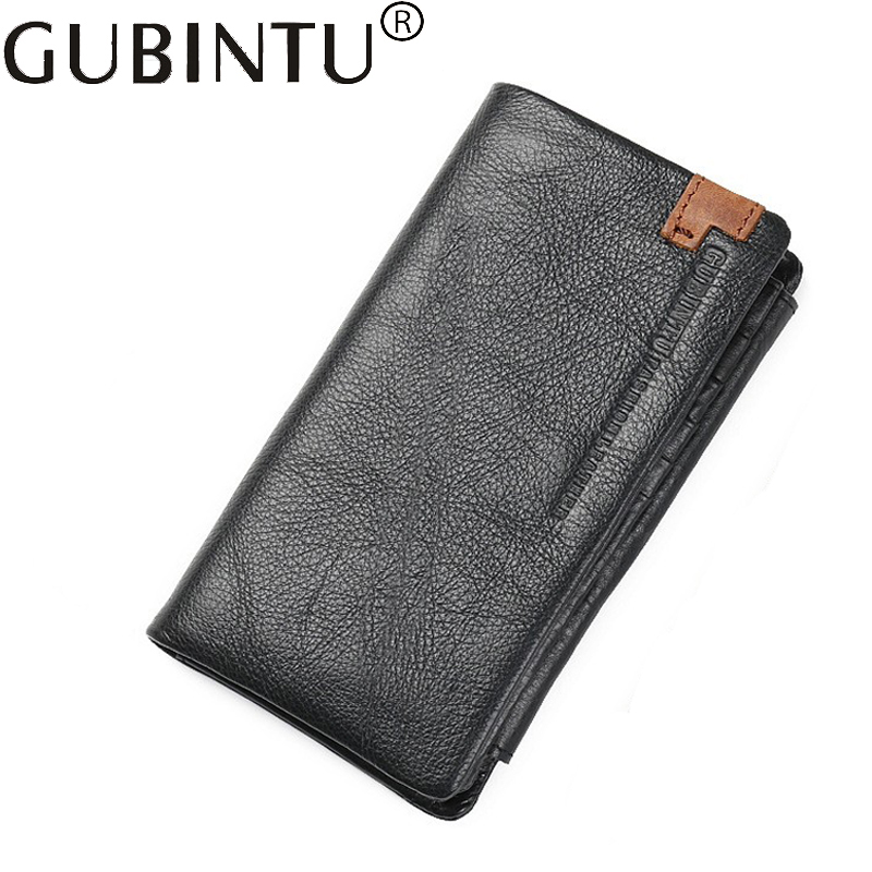 Long Handy Phone Genuine Leather Men Wallet Male Purse Bag Business Card Holder Clutch Money Walet Cuzdan Klachi Vallet Kashelek long handy designer luxury brand fashion men wallet male clutch purse bag card holder money perse portomonee walet cuzdan vallet