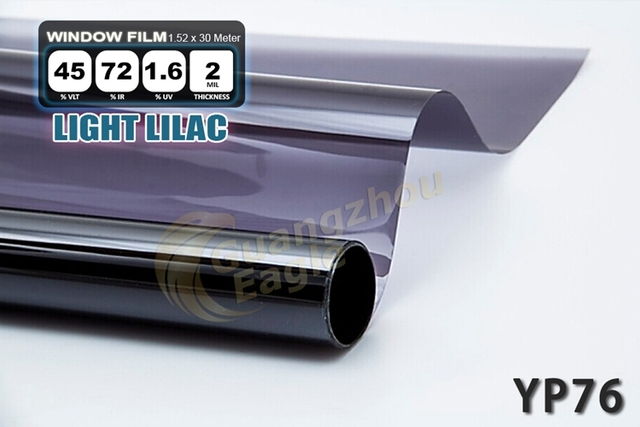 1.52*30m High-performance PET Car Solar Window Tint Film window Foil Free Shipping Light Lilac/ YP-76