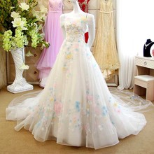 Dubai Luxury Ball Gown Princess Floral Lace Beaded Wedding Dresses 2016 Watteau Train Long Bridal Gowns vestidos de novias XW121