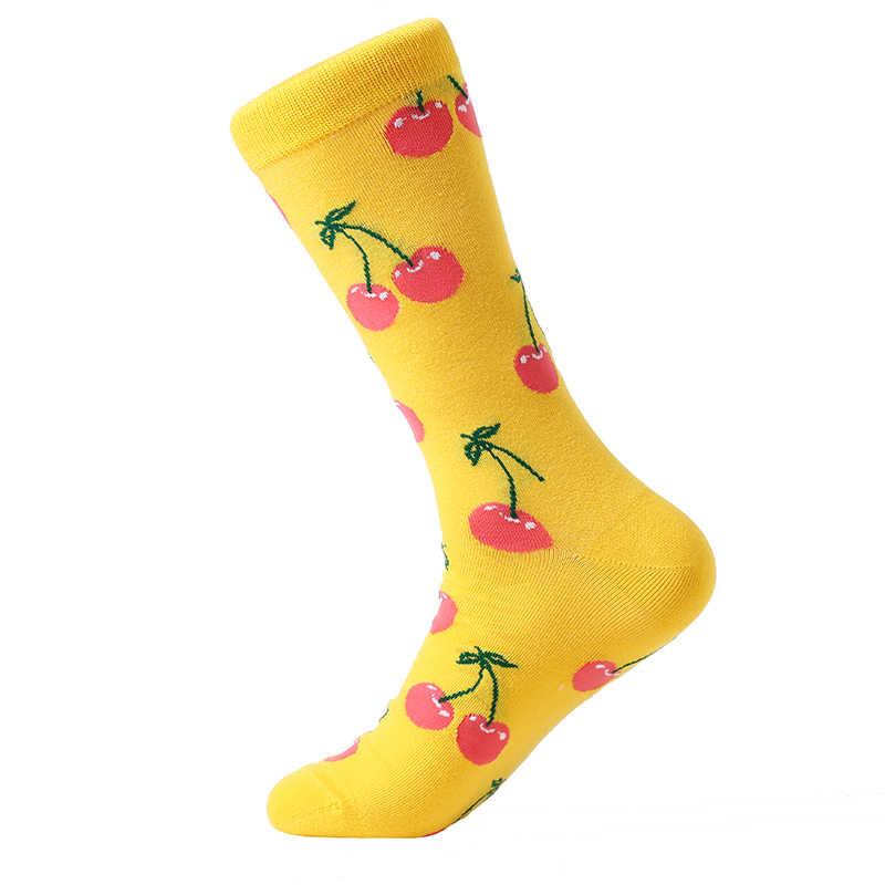 MYORED 5 пара/лот мужские Красочные забавные носки хлопок фруктовая серия длинные носки для мужчин повседневные платья яркие разноцветные свадебные подарки