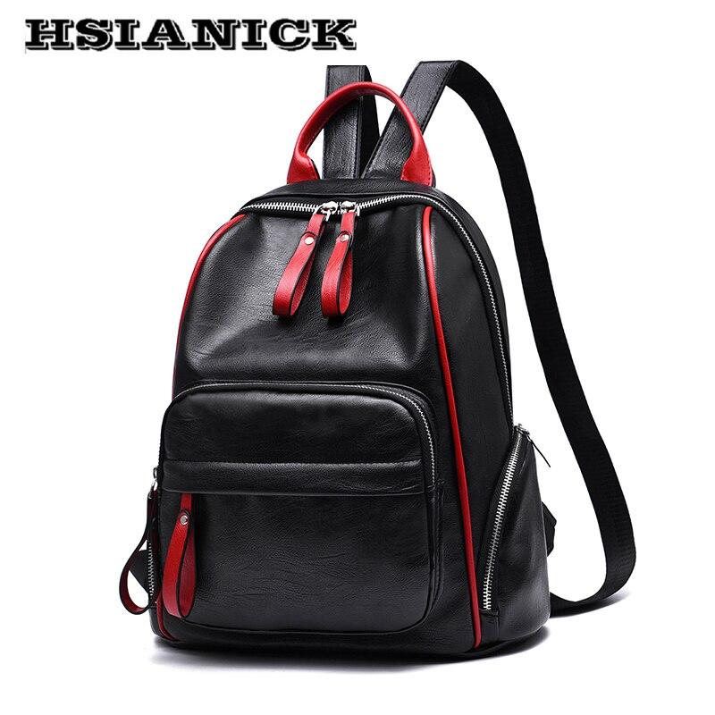 Women Shoulder bag female 2017 new design backpack bag ladies fashion black large-capacity soft leather leisure travel backpack