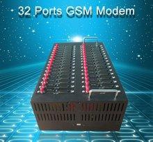 Дешевые 32 портов модемного пула Q2303 Объемной Отправки Сообщений USSD STK Мобильный перезарядки
