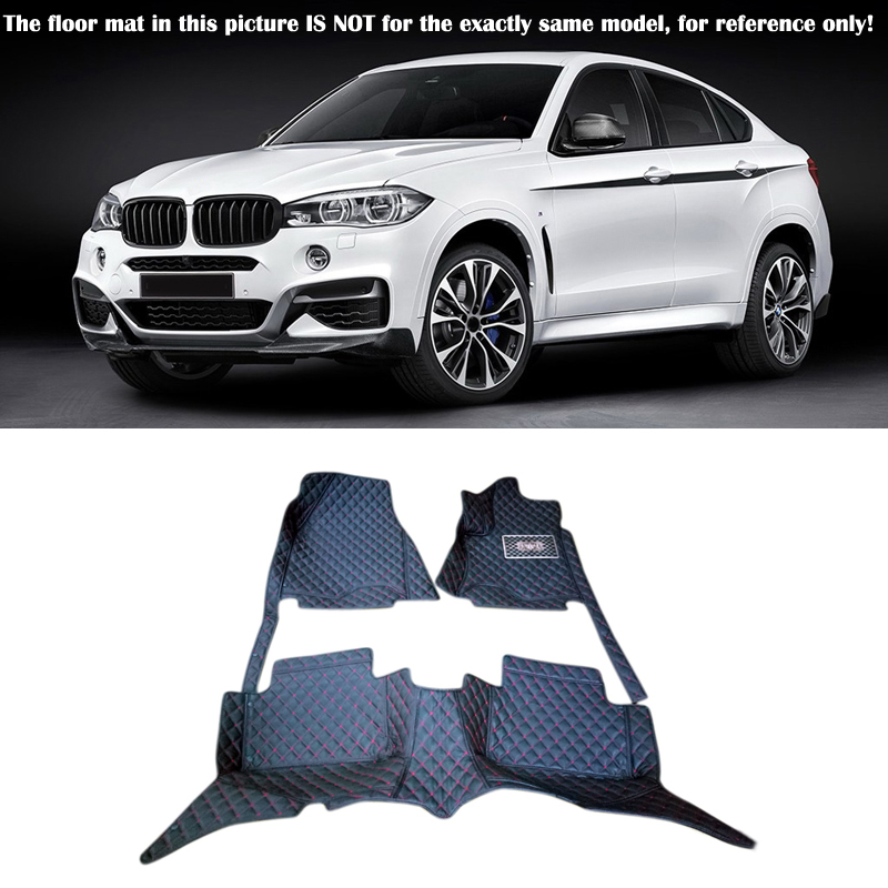 For BMW X6 F16 2015 2016 Interior Leather Carpet Floor Mat Car Foot Mat 1set Car Styling accessories! 2004 2006 for bmw x5 e53 2004 2005 2006 accessories interior leather carpets cover car floor foot mat floor pad 1set