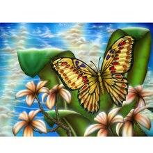 Yikee Бриллиантовая мозаичная бабочка квадратная Алмазная вышивка