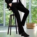 Calças dos homens Primavera e No Outono Magro dos homens outono calças terno terno Coreano calças de lazer ternos de negócio preto