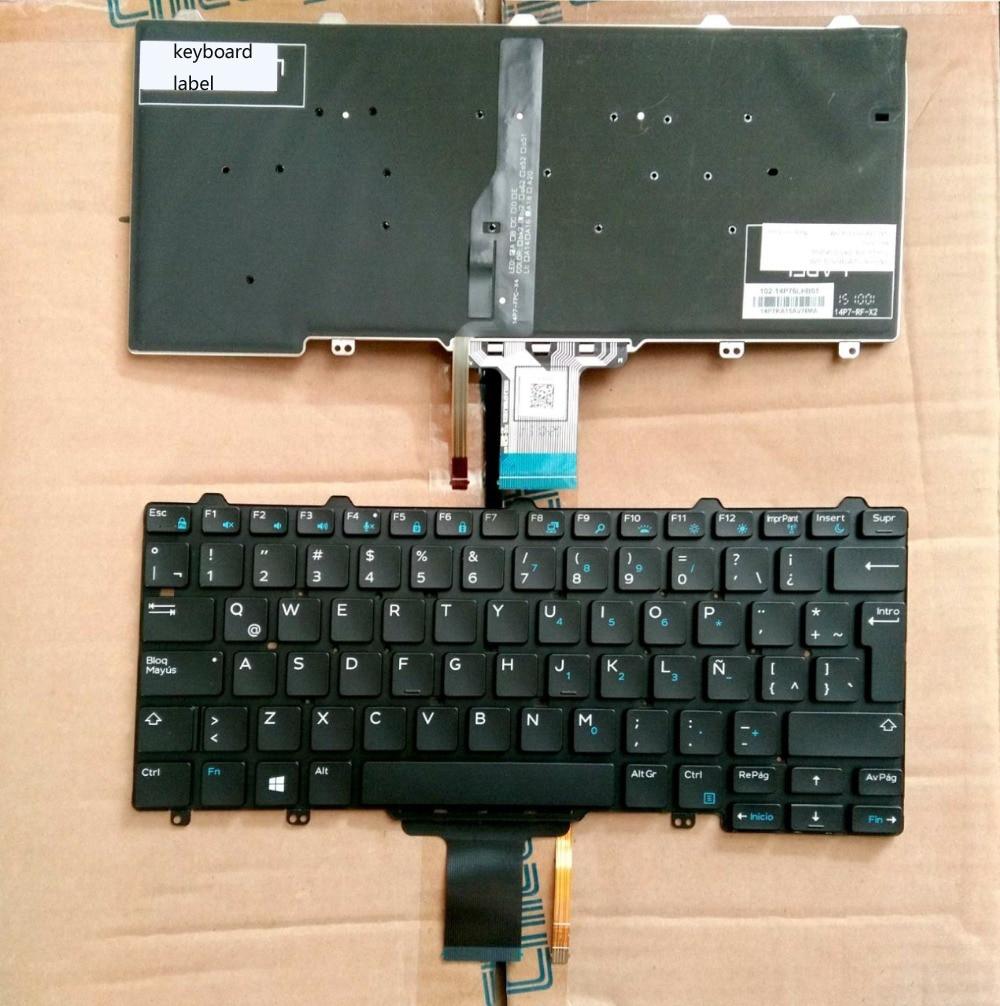 New notebook laptop keyboard for Dell Latitude 11 3150 12 5000 E5250 E7250 13 3340 7350 LA/Latin layout xps13 us layout laptop keyboard for dell xps 13 9333 keyboard 9343 9350 l321x l322x notebook black keyboard win7
