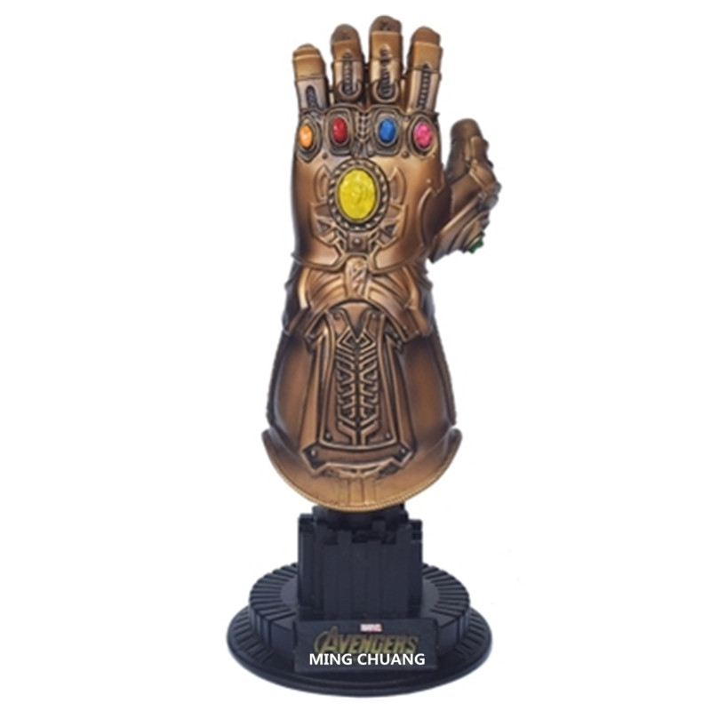 Avengers Infinity War Megamind Thanos Boss Gloves Model 1:4 Captain America And Iron Man Enemy Resin Action Figure Toy D262 [funny] hot infinity gauntlet thanos gem gloves model avengers infinity war action figure toy resin decoration collection model