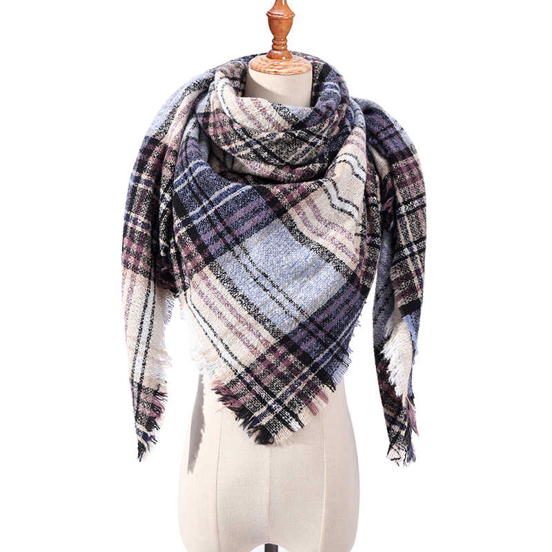 Designer Merk Vrouwen Sjaal Mode Plaid Winter Sjaals Voor Dames Kasjmier Sjaals Wraps Warm Neck Driehoek Bandage Pashmina