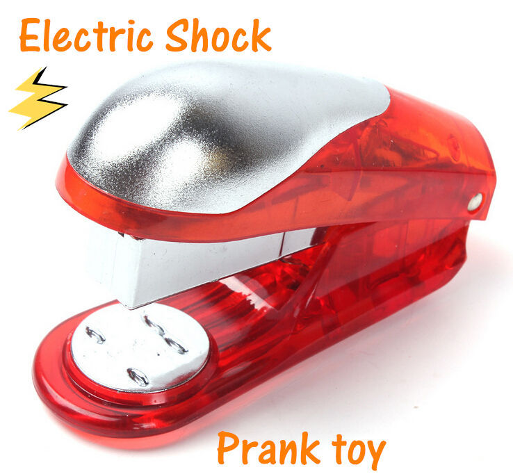 Creative Electric Shock Toys Stapler Type Novelty Electric Prank Toy Funny Gifts Joke Goods for April Fools Day Free Shipping ...
