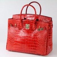 Quality Guaranteed Fashion Crocodile Pattern Women Genuine Leather Handbag Bag Designer Ladies Tote Shoulder Bag 17B33