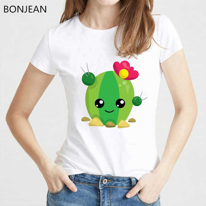 새로운 여름 패션 T 셔츠 여성 귀여운 선인장 무료 포옹 인쇄 T-셔츠 재미 캐주얼 탑스 Hipster 멋진 반소매 tshirt