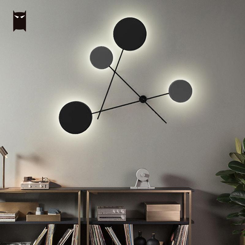 где купить Big LED Iron Metal Round Wall Lamp Fixure Modern Nordic Contemporary Scandinavian Sconce Lighting Design for Bedroom Living Room по лучшей цене