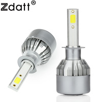 Zdatt 2Pcs Super Bright H1 Led Bulb 72W 7600Lm Headlights H3 H4 H7 H8 H9 H11