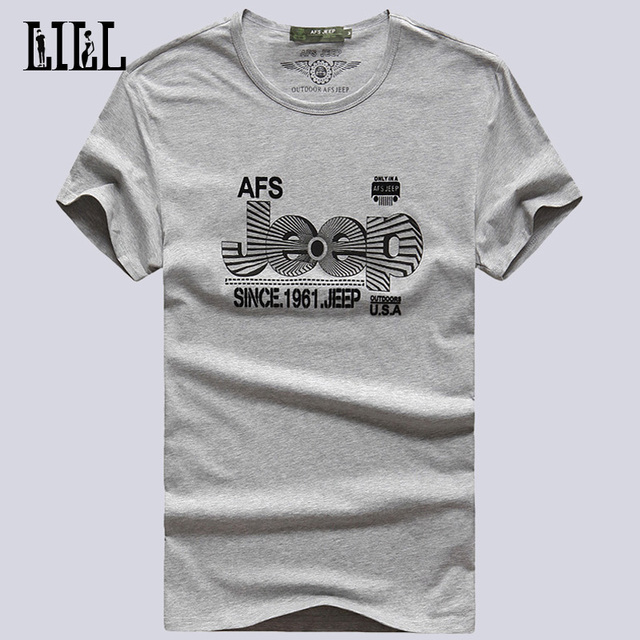 Hi-Q 2016 Summer Mens Cotton Elastic T Shirt  Men Stitched AFS JEEP T-Shirts Man Casual Men's Tshirt Male Casual T-Shirt,UMA015