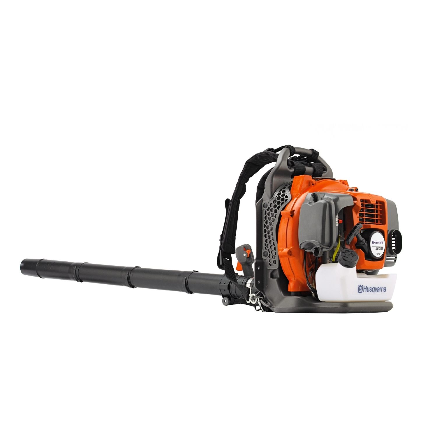 Air Blower gasoline Husqvarna 350 BT (Power 1600 W, benz. engine 50.2 CC, Regul. Air rate up to 80 m/s) 8bar air compressor head reorder rate up to 80