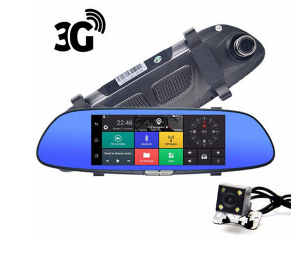 CARCHET 7 дюймов Автомобильные видеорегистраторы Автомобильная камера 7 Android 5,0 для автомобильного видеорегистратора с GPS Видео рекордер Bluetooth