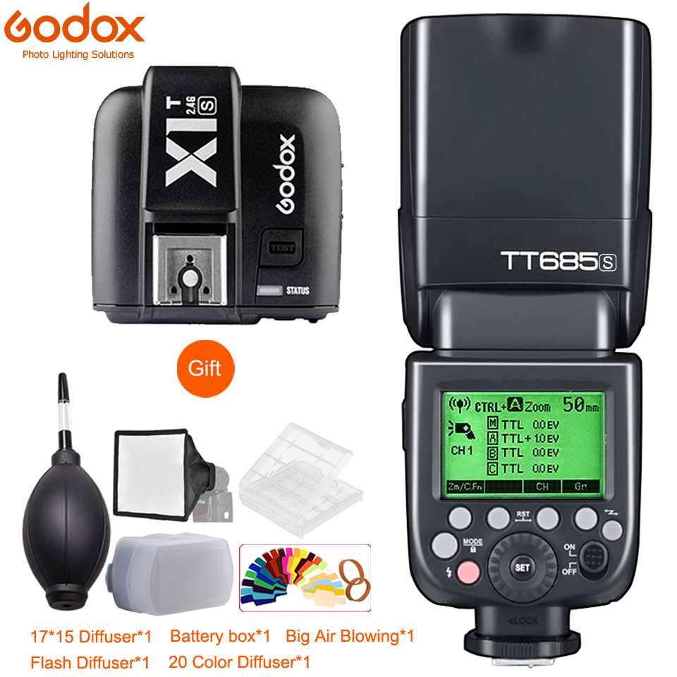 Godox TT685 TT685C TT685N TT685S TT685F TT685O 1 8000s TTL Flash Speedlite X1T Trigger for Canon