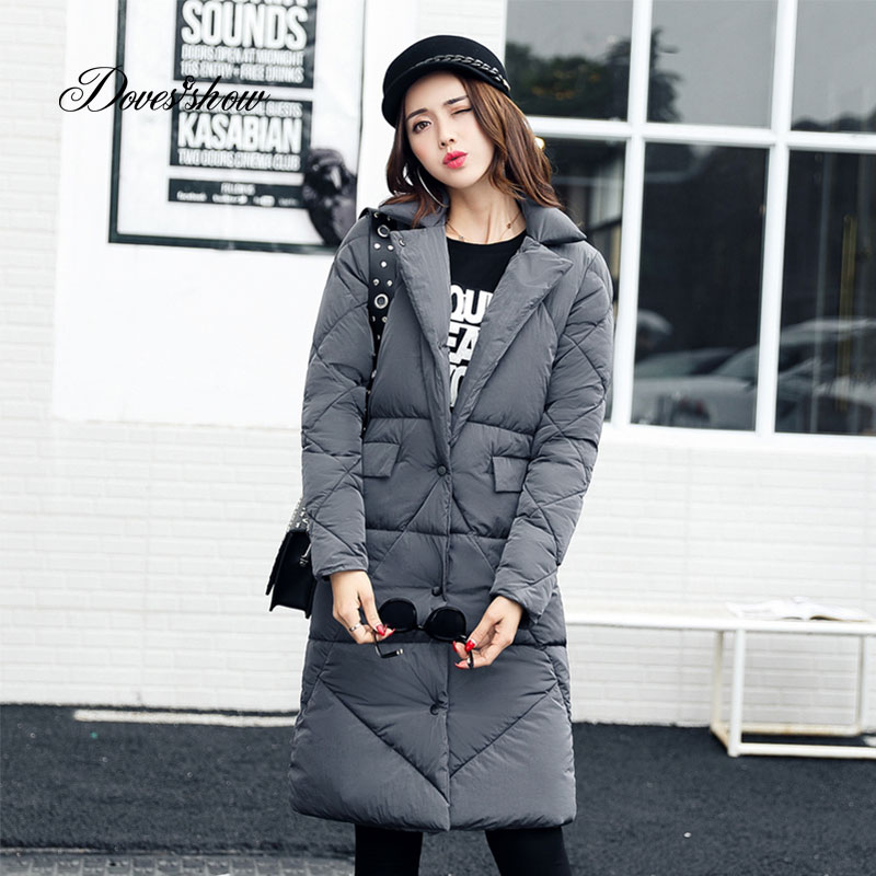 2017 Thick Long Winter Jacket Women Padded Cotton Coat Hooded Overcoat Parka Plus Size Wadded Casaco Feminino Female Jacket L828 ldnio 3u 1 6 м sc3301 сетевой удлинитель black