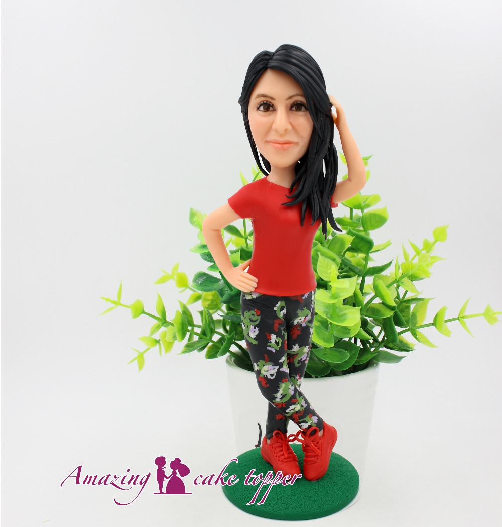 2018 AMAZING CAKE TOPPER Showing personal charm girls Toys Custom Polymer Clay Ideas Customized Figurine Valentine's Day
