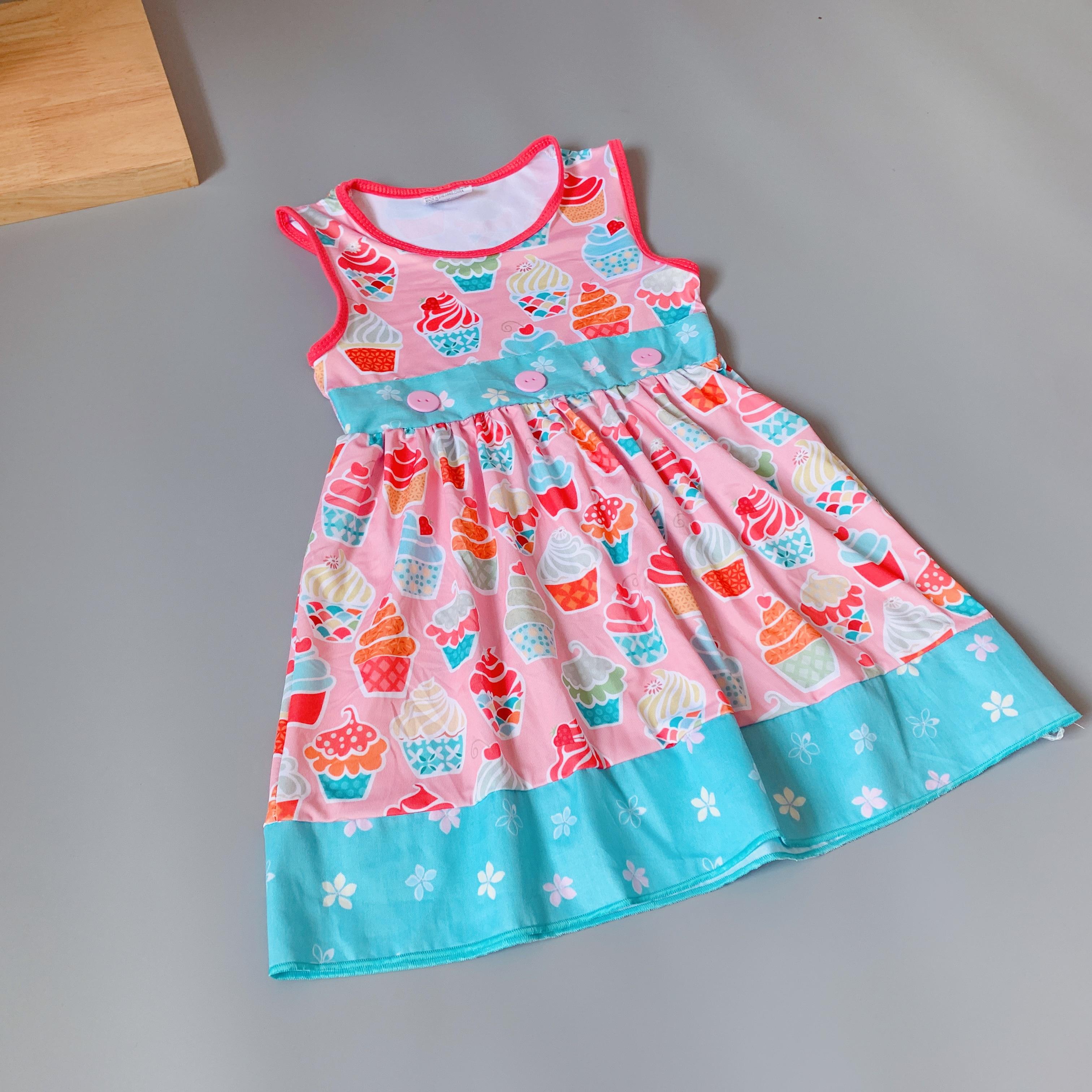 Baby Girls dress floral Flower boutique Infants toddler Kids ruffles big girl princess dresses frocks ice cream dress in Dresses from Mother Kids
