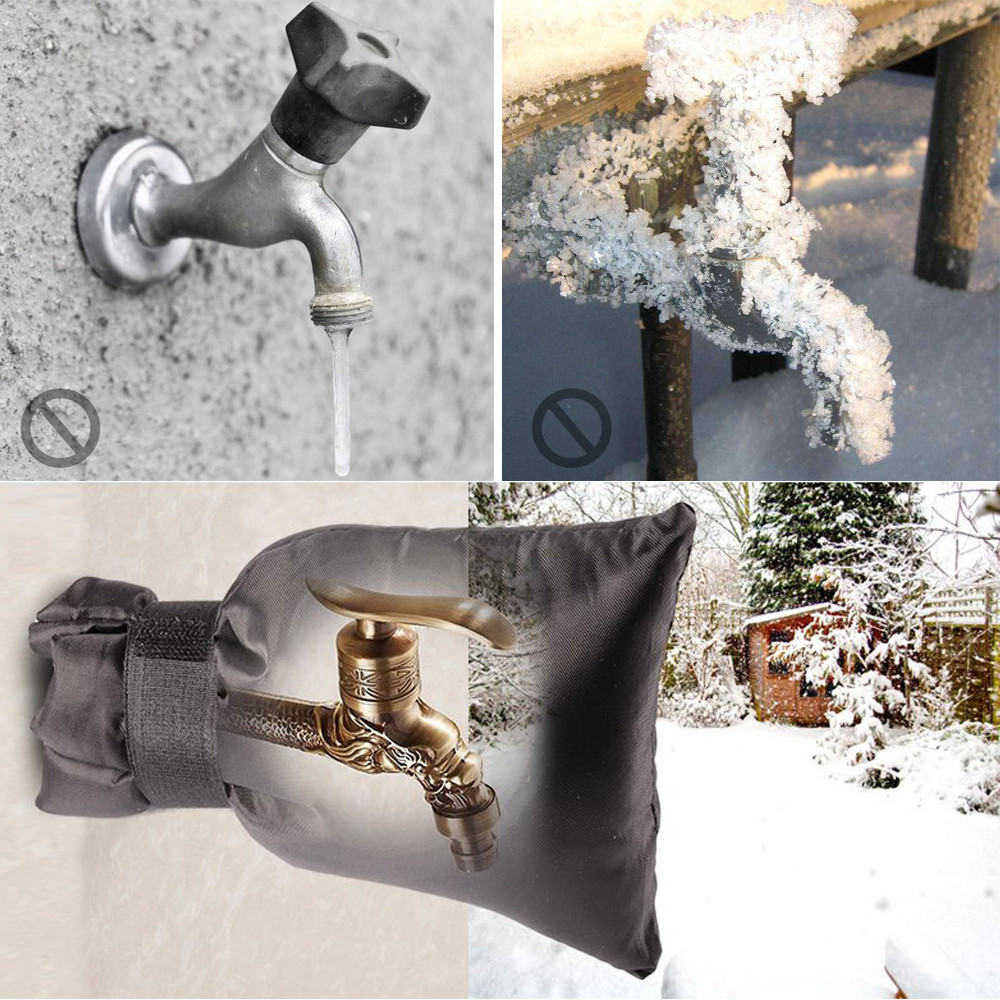1 Pc Winter faucet frost protection cover protect multiple outdoor ...