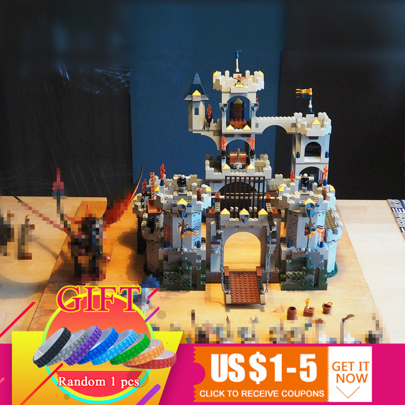 16017 1023Pcs Movie Series The King`s Castle Siege Set Compatible with 7094 Children Educational Building Blocks toys lepin 16017 king s castle siege building bricks blocks toys for children boys game model gift compatible with bela 7094