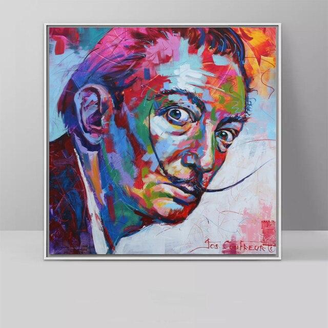 8c0aeb7ed74 Salvador Dali Graffiti Pop Art peinture à l huile visage Portrait  impression peinture murale et