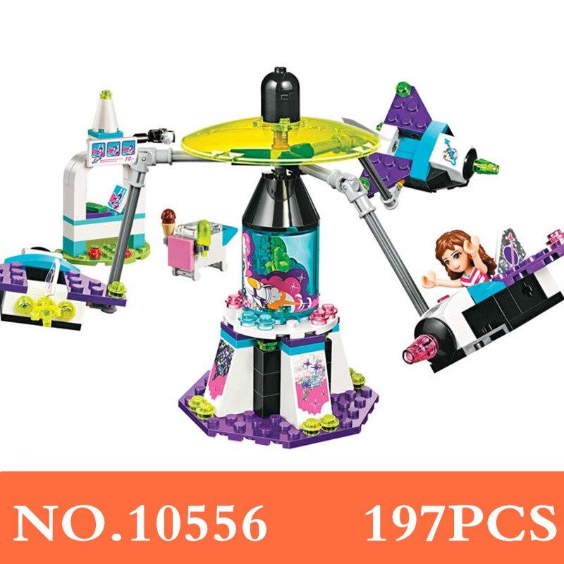 10556 197pcs Girl Friends Space Ship Amusement Park Bela Building Block Compatible 41128 Brick Toy XD195