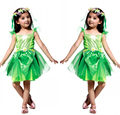 Novelties Green Elf Sprite Dress Leg Avenue Neverland Tinkerbell Garden Fairy Kids Costume Lovely Woodland Fairy Dress Vestidos