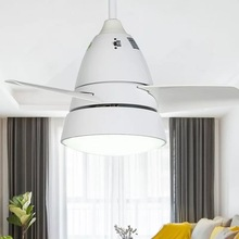 Modern minimalist ceiling fan light LED remote control smart mute dimming AC110V 220V for factory office living room