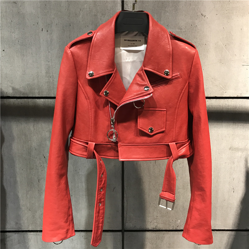rouge Cuir rose De Véritable En Mouton Blazer Veste Noir Lady jaune qOZxz85xgw