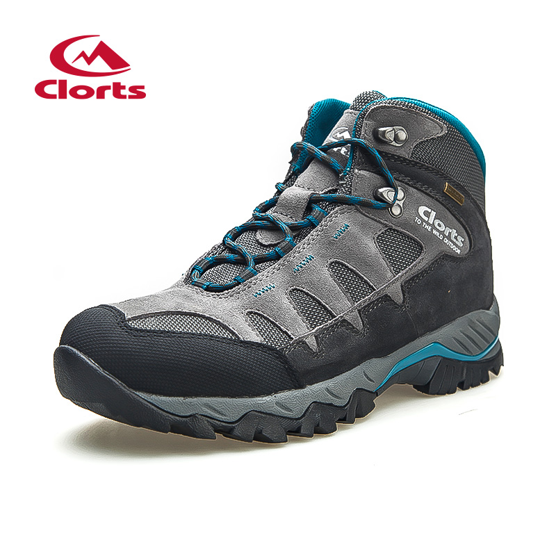 2018 Clorts Mens Hiking Boots Climbing Camping Outdoor Shoes Waterproof Sport Shoes Suede Leather For Men Free Shipping HKM-823B clorts women hiking shoes outdoor trekking shoes waterproof lace up mountain shoes suede leather female climbing shoes hkl 826e