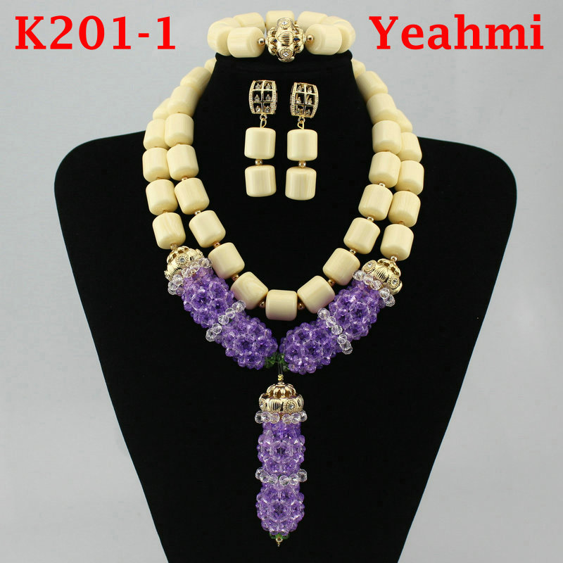 Wonderful Opaque Orange Bridal Beads Indian African Costume Jewelry Set Nigerian Wedding Necklace for Women Free Shipping K201-1