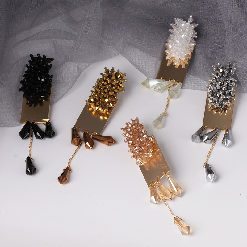 JUJIA Boho 2019 Crystal Beads Earrings Pendientes Summer Handmade Statement Tassel Earrings Women Wedding Party Gifts