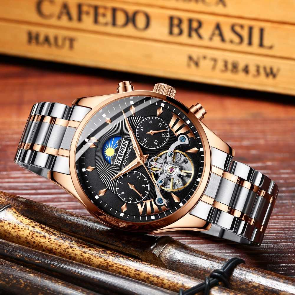 d399a81f0d8d ... HAIQIN relojes para hombre marca de lujo automático mecánica reloj de  lujo de ...