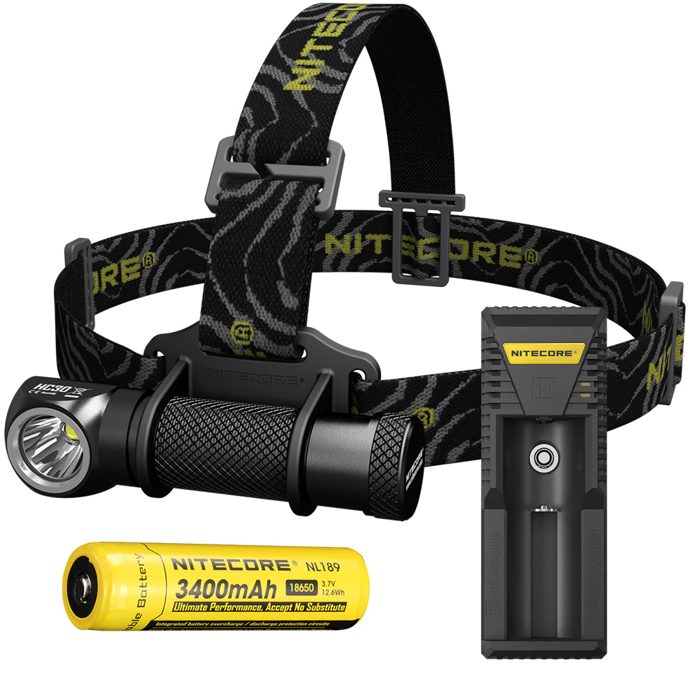 NITECORE HC30 Headlamp + i1 Charger + 18650 rechargeable Battery CREE XM-L2 1000 Lumen Waterproof Flashlight Torch Free Shipping led headlamp cree xm l2 2xpe led waterproof red light torch flashlight usb headlamp rechargeable with 18650 battery and charger