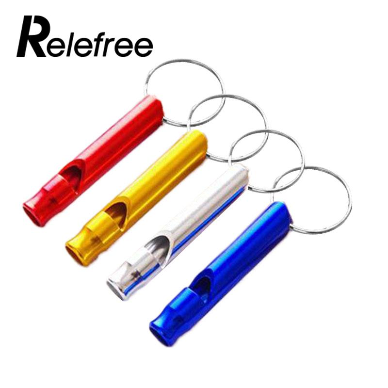 2pcs Whistle Aluminium Alloy Emergency Gear Camping Hiking Outdoor Portable