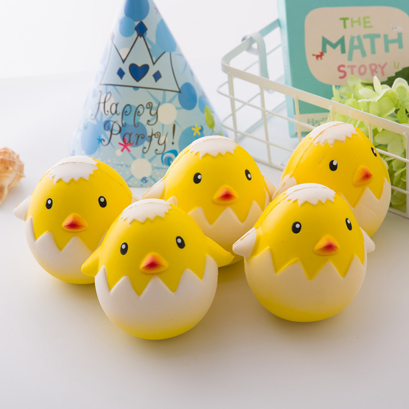 Cute Chicken Egg Squishy Jumbo Chick Shell Slow Rising Phone Strap Pendant Sweet Cream Scented ...