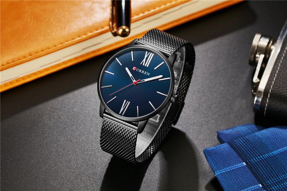 HTB1Z3FiRpXXXXbJXXXXq6xXFXXX3 - CURREN Luxury Stainless Steel Business Watch for Men