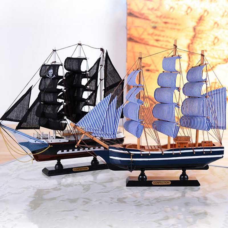 barco de vela de madera madera clipper ship modelo cobrable velero artesanas decorativas de navidad regalo