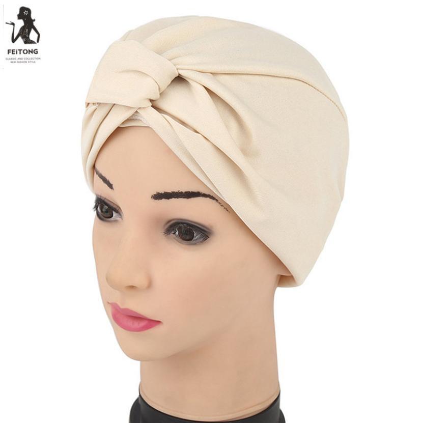 Sommer Frauen Indien Vergoldung Stretch Turban Hut Baumwolle Chemo ...