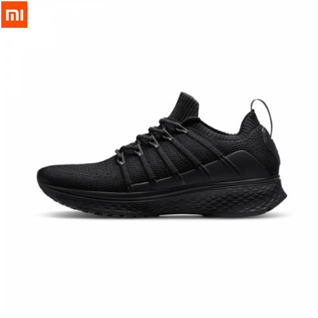 2018 Xiaomi Mijia Sports Shoes Sneaker 2 Uni-Moulding Techinique New Fishbone Lock System Elastic Knitting Vamp Shoes For Men