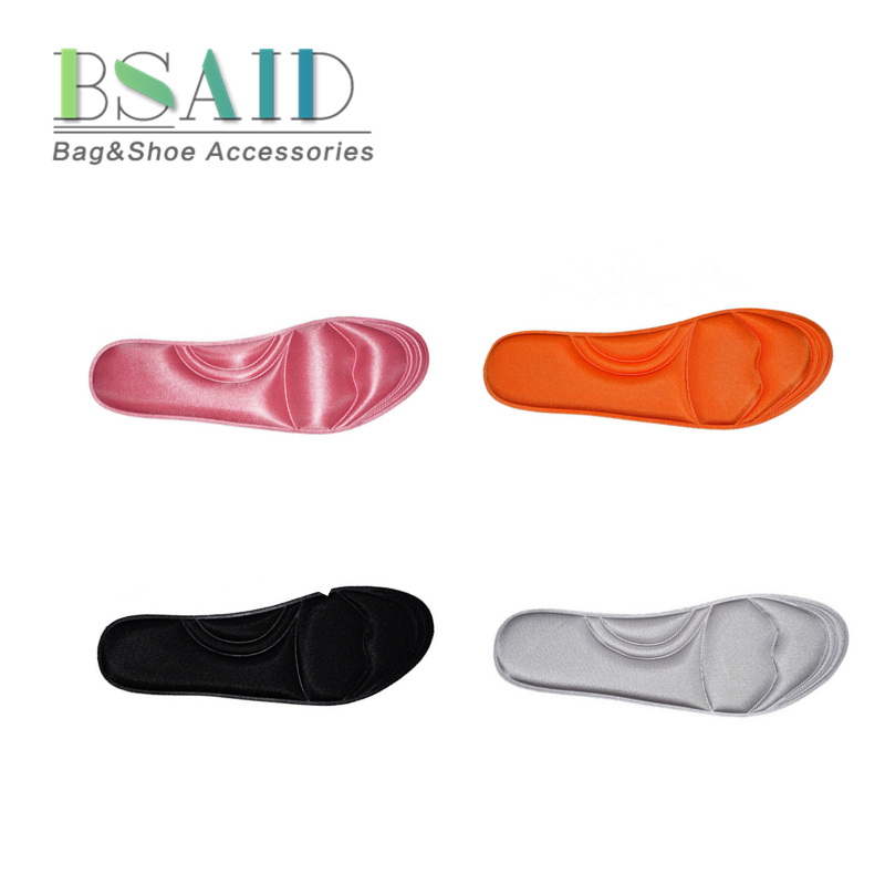 BSAID 1Pair 4D Memory Foam Insoles, Unisex Foot Support Breathable Damping Insole, Pain Relief Massage Shoe Pads Plantar Cushion silicone insoles elastic damping cushion insole sport health men s lady pain relief military soft insole foot pad 2016