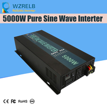 Reliable Continuous Power 5000w power inverter with remote controller off grid pure sine wave  solar DC 12V 24V 48V  110v off grid pure sine wave solar inverter 24v 220v 2500w car power inverter 12v dc to 100v 120v 240v ac converter power supply