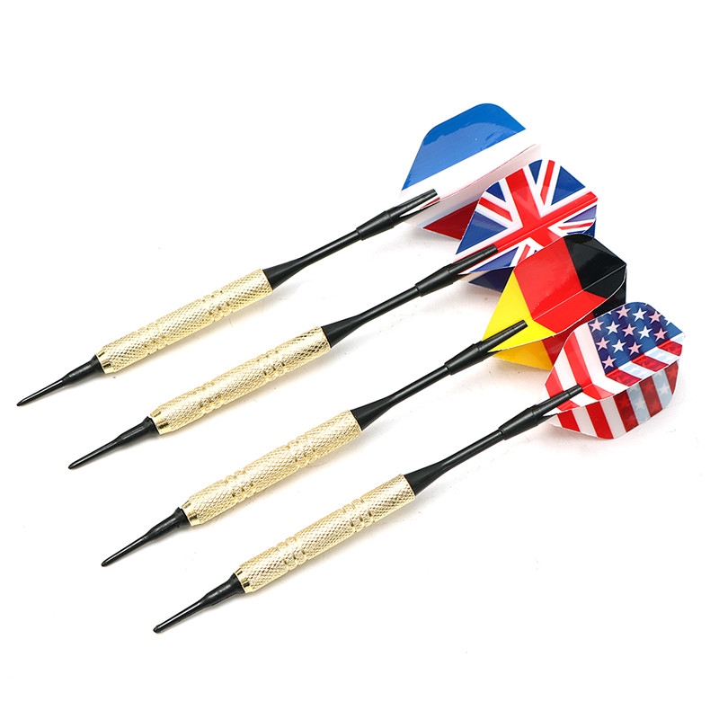 Top Quality 12Pcs Soft Tip Darts With 36 Extra Tips Set Kits Confrontational Funny Parent-child Games For Electronic Dartboard